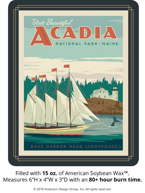 Acadia Keepsake Jar: Bass Harbor Head