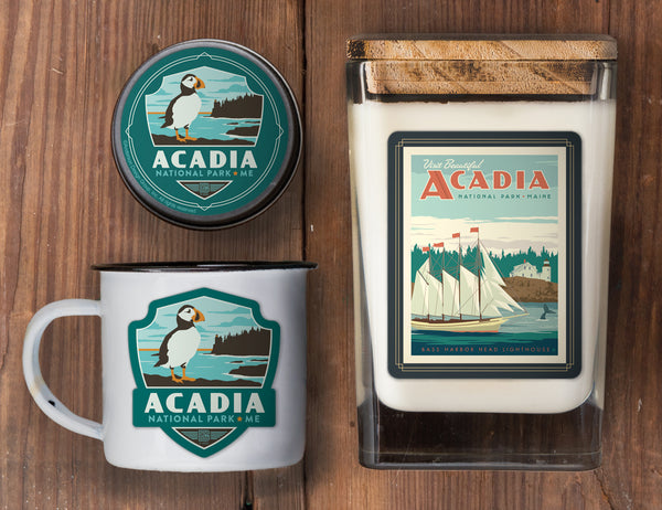 Acadia Set of 3 Candles: Bass Harbor Head