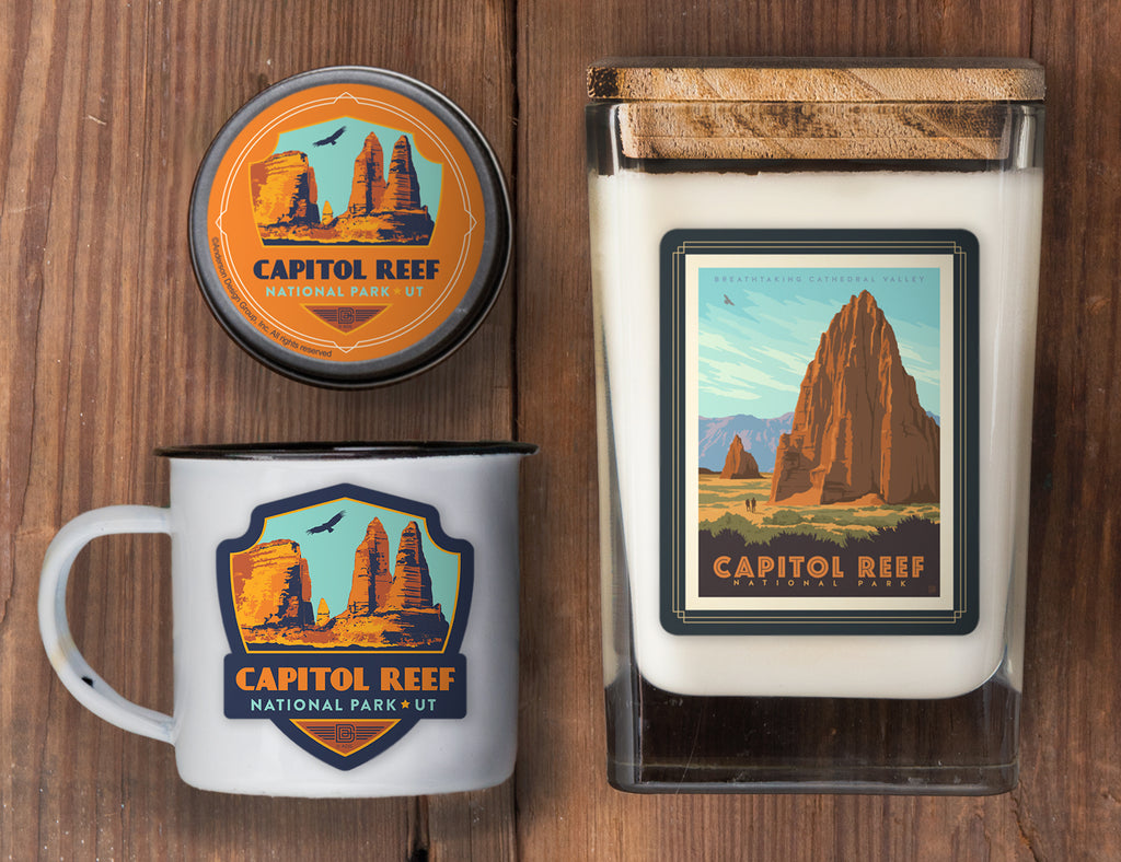 Capitol Reef Set of 3 Candles: Cathedral Valley