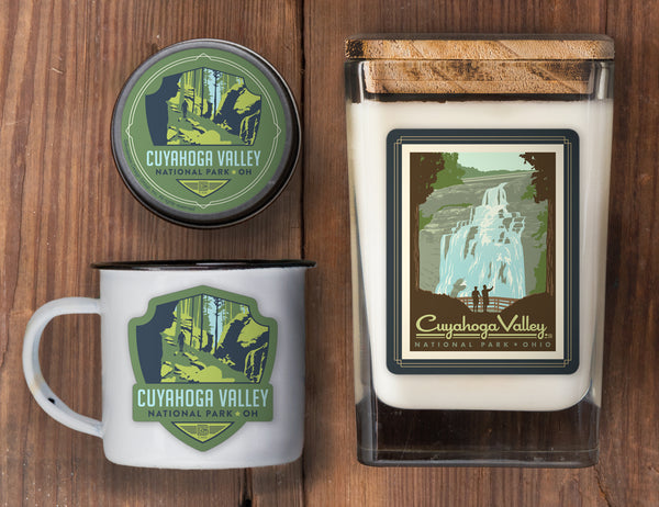 Cuyahoga Valley Set of 3 Candles: Brandywine Falls