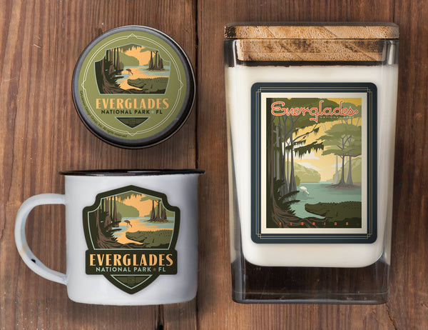 Everglades Set of 3 Candles: Gator