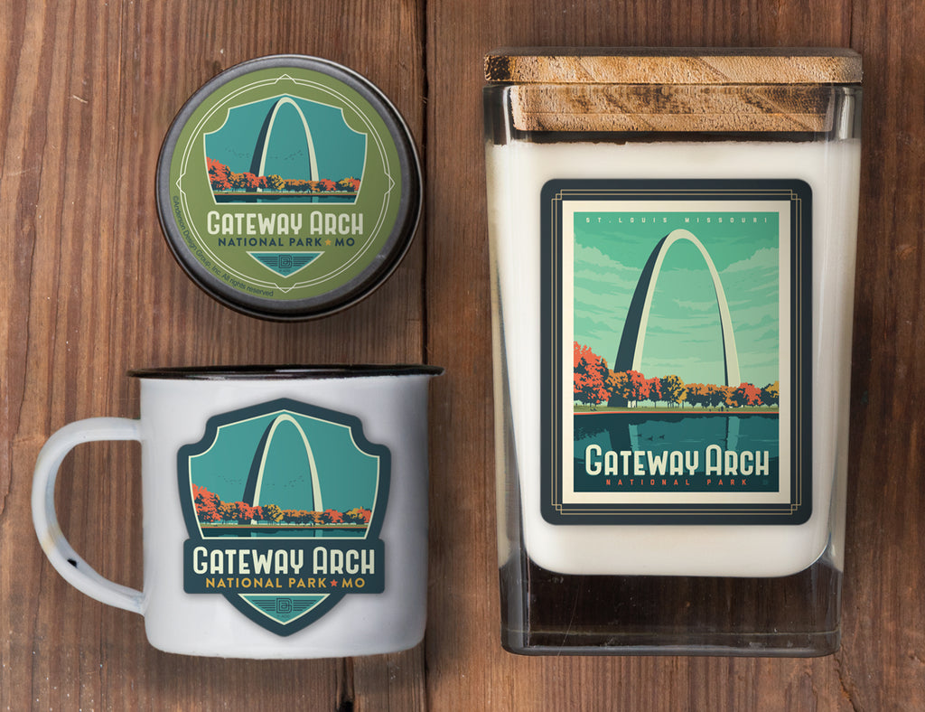 Gateway Arch Set of 3 Candles