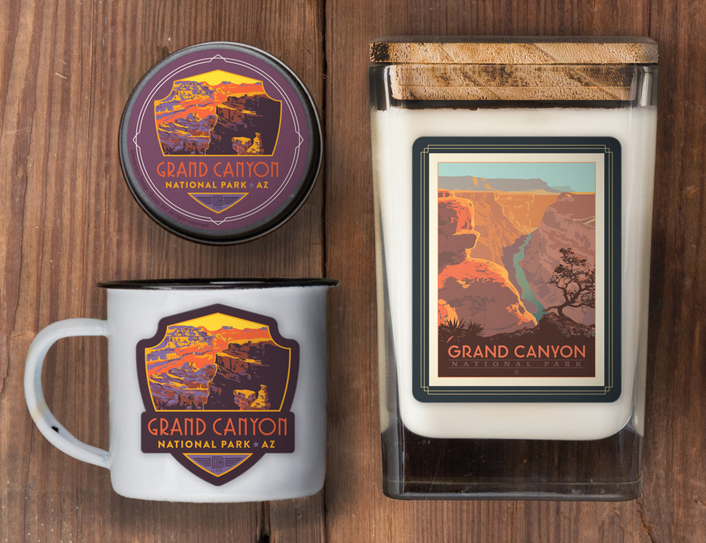 Grand Canyon Set of 3 Candles: River View