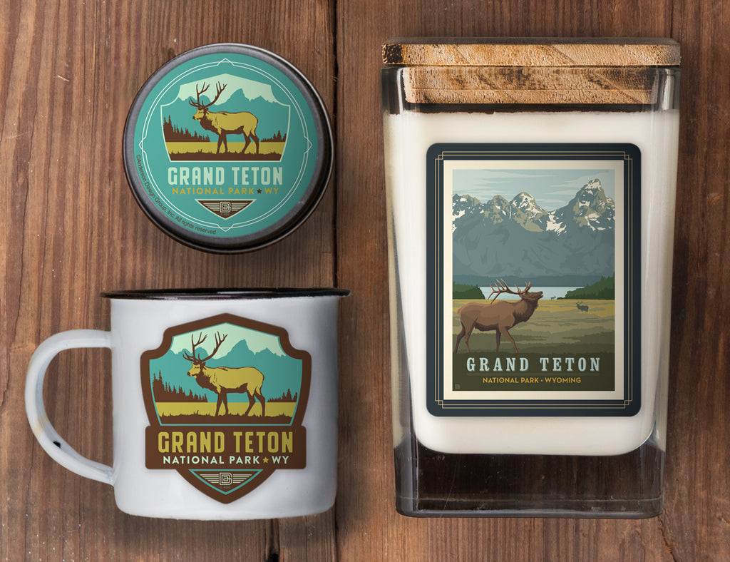 Grand Teton Set of 3 Candles: Elk