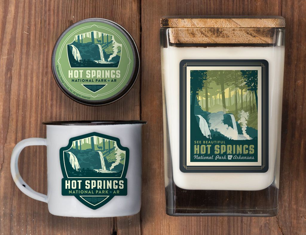 Hot Springs Set of 3 Candles