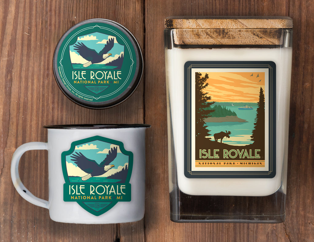 Isle Royale Set of 3 Candles
