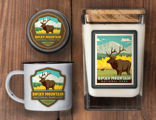 Rocky Mountain Set of 3 Candles: Longs Peak