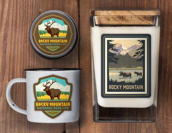 Rocky Mountain Set of 3 Candles: Sprague Lake