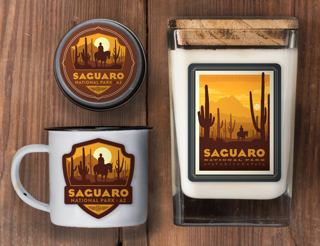Saguaro Set of 3 Candles