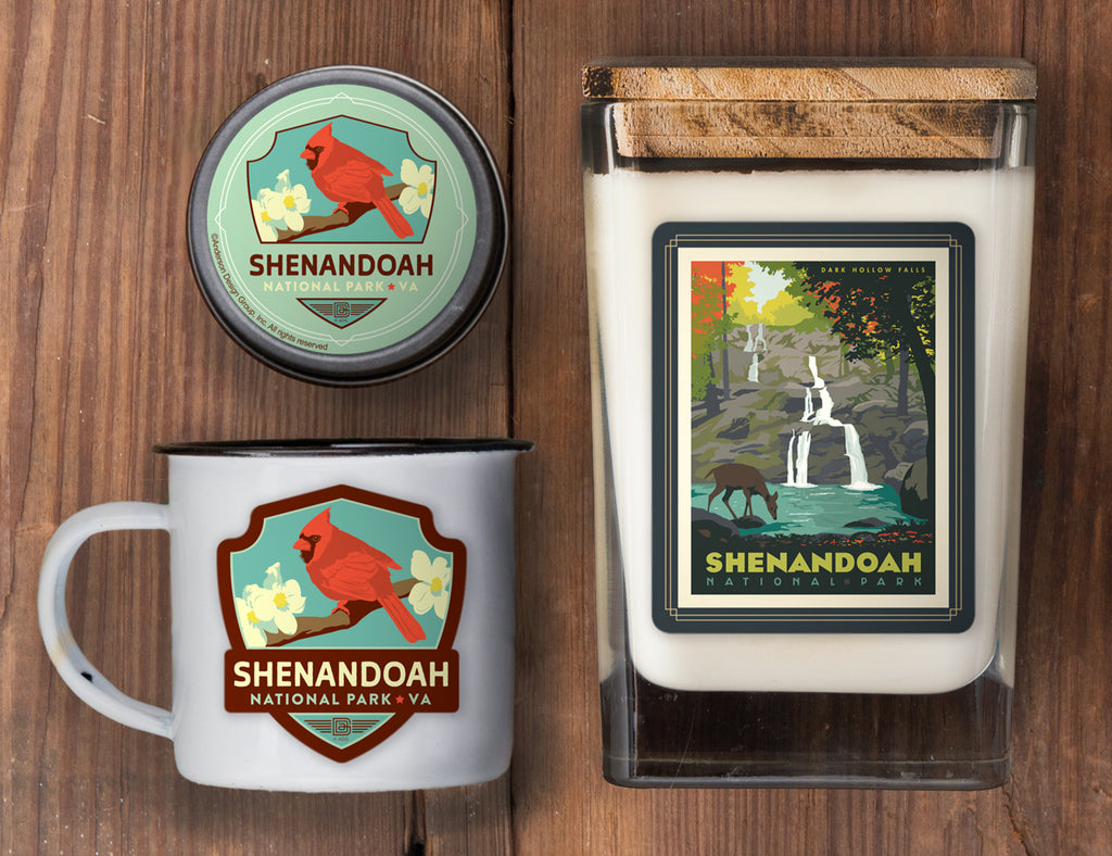 Shenandoah Set of 3 Candles: Dark Hollow Falls
