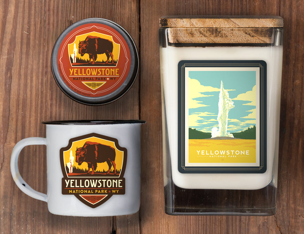 Yellowstone Set of 3 Candles: Old Faithful