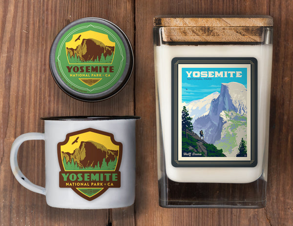 Yosemite Set of 3 Candles: Half Dome Vista