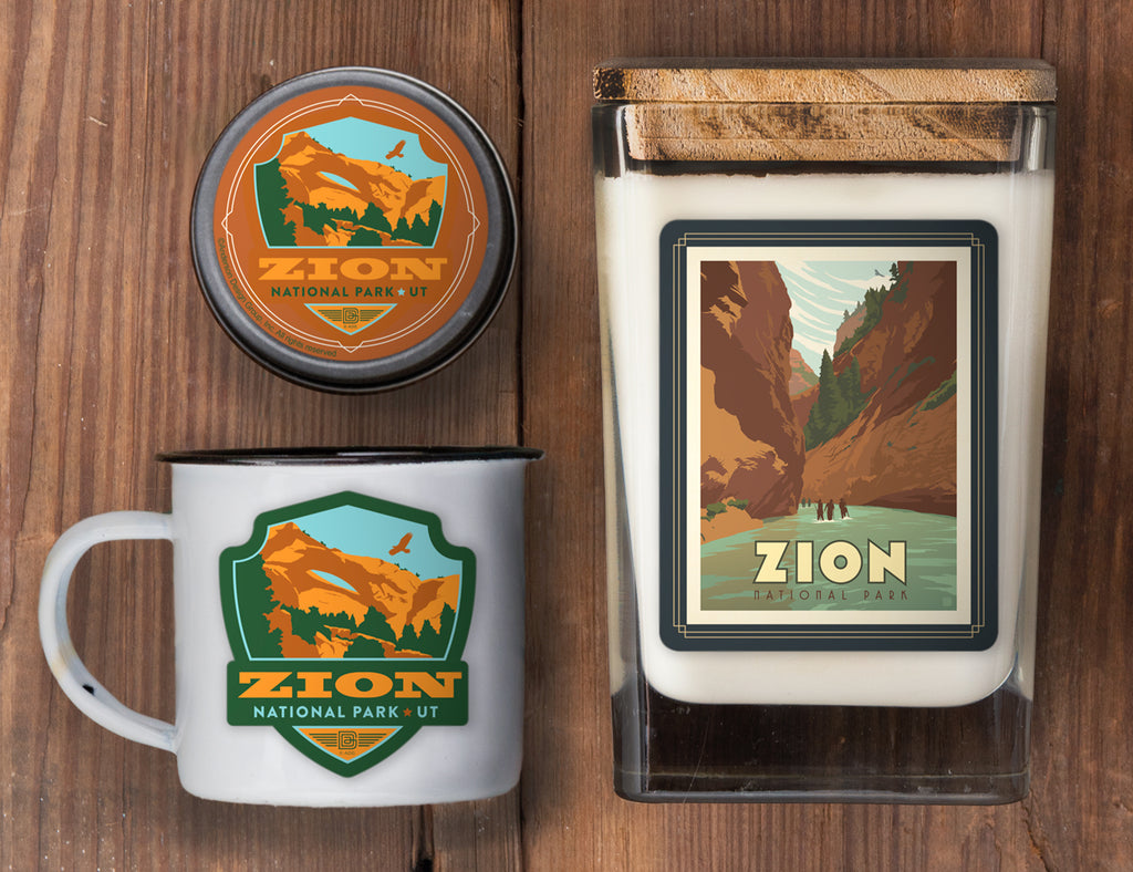 Zion Set of 3 Candles: Hiking the Narrows