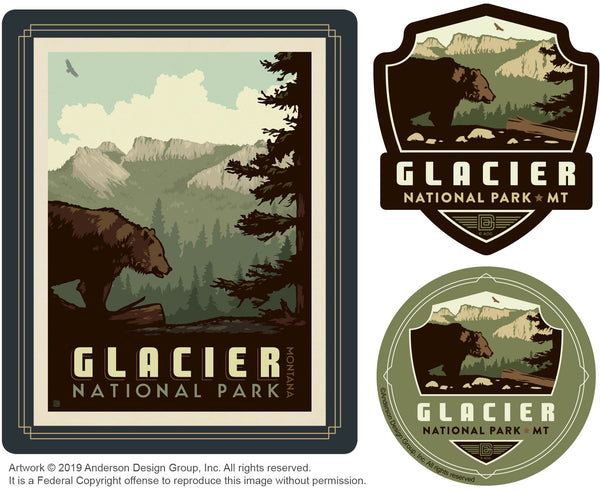 Glacier Set of 3 Candles: Bear