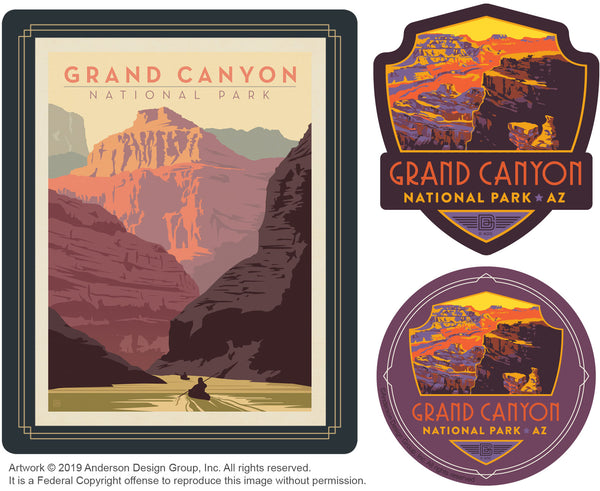 Grand Canyon Set of 3 Candles: Kayak