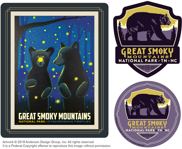 Great Smoky Mountains Set of 3 Candles: Firefly Cubs