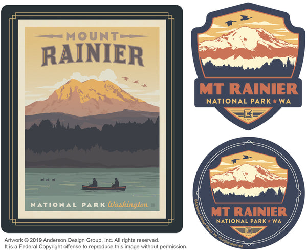 Mount Rainier Set of 3 Candles