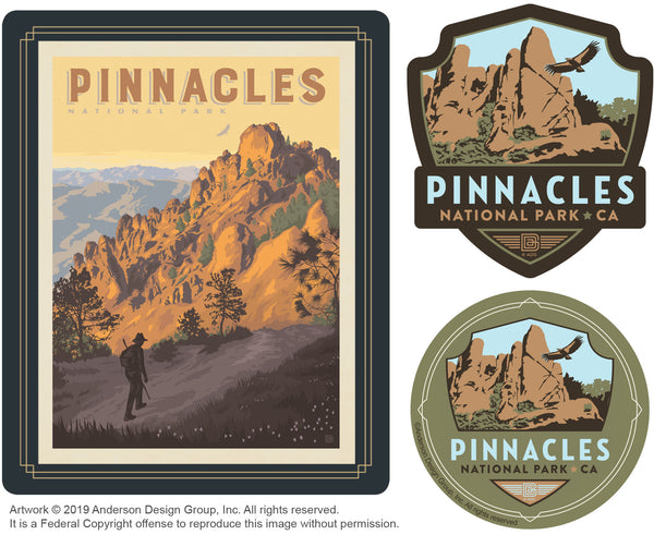 Pinnacles Set of 3 Candles: High Peaks Trail