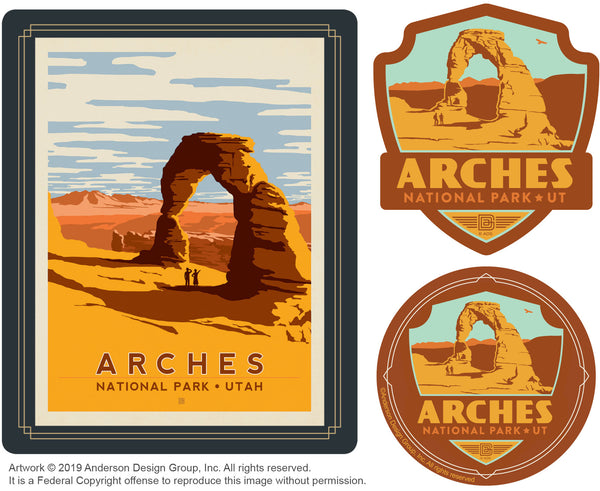 Arches Set of 3 Candles: Delicate Arch