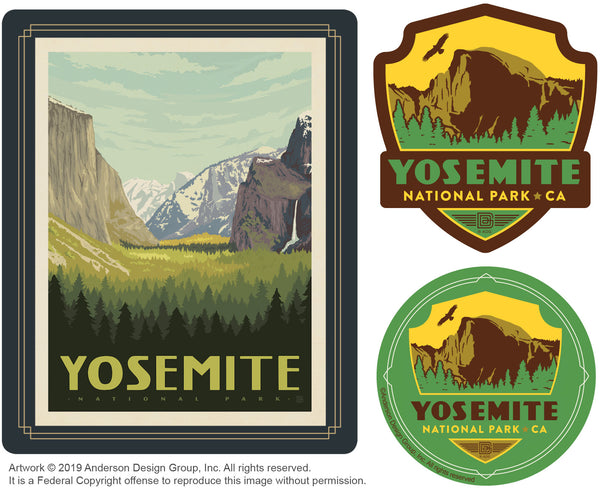 Yosemite Set of 3 Candles: Yosemite Valley