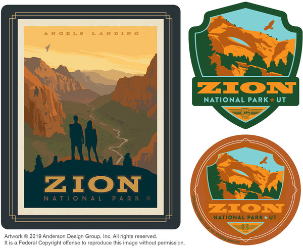 Zion Set of 3 Candles: Angel's Landing
