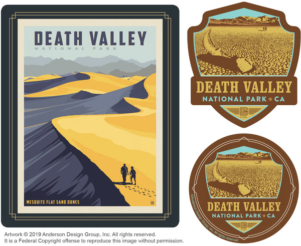 Death Valley Set of 3 Candles: Sand Dunes