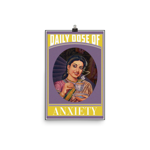 Anxiety Photo paper poster