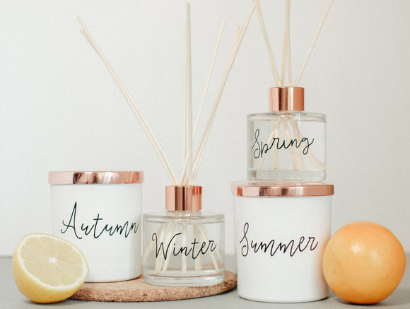 Candles, room fragrance + soaps