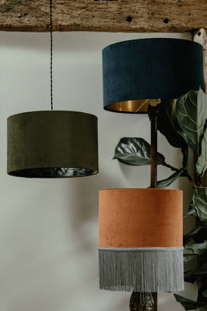 Velvet lampshade collection