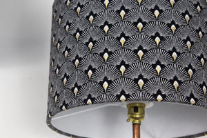 Art deco fans black & gold lampshade