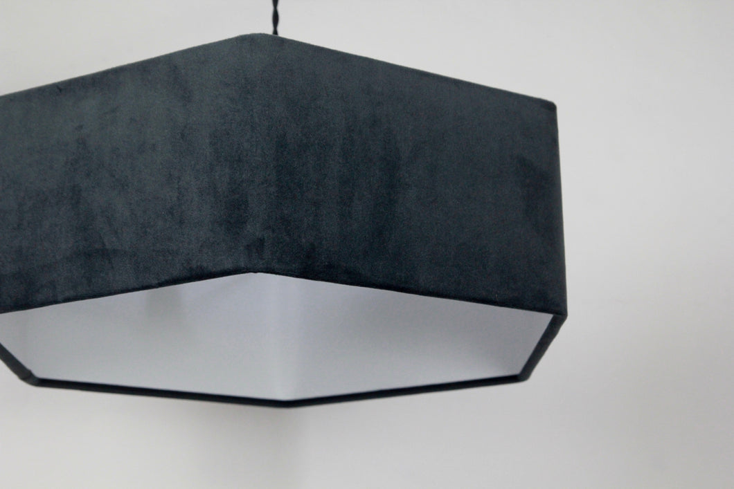 Hexagonal graphite lampshade