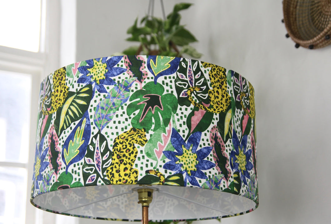 Jungle leopard lampshade