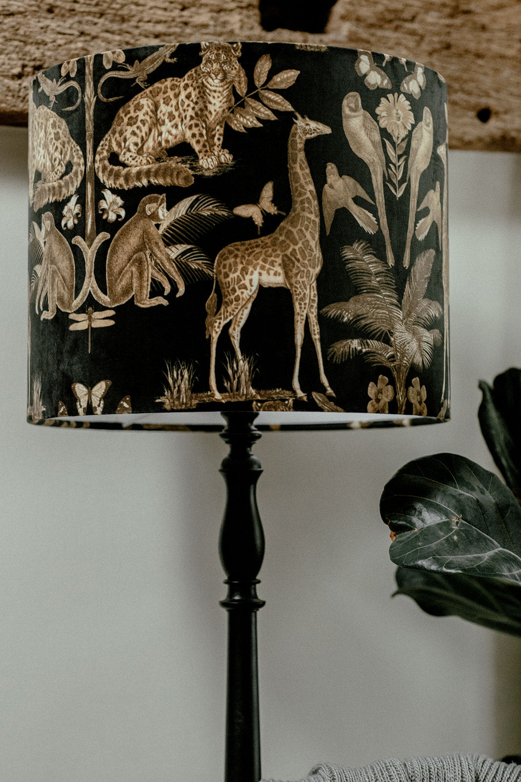 Safari velvet luxury lampshade