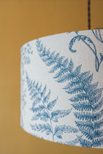 Load image into Gallery viewer, Blue Fern Print lampshade