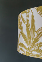 Load image into Gallery viewer, Chartreuse Palm Print lampshade