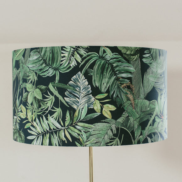 Dark jungle drum shape lampshade
