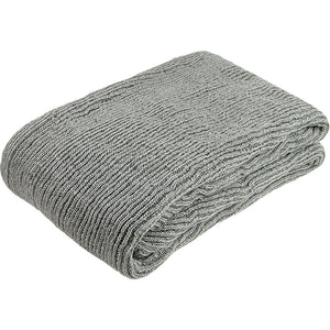 Recycled plastic knitted throw - grey