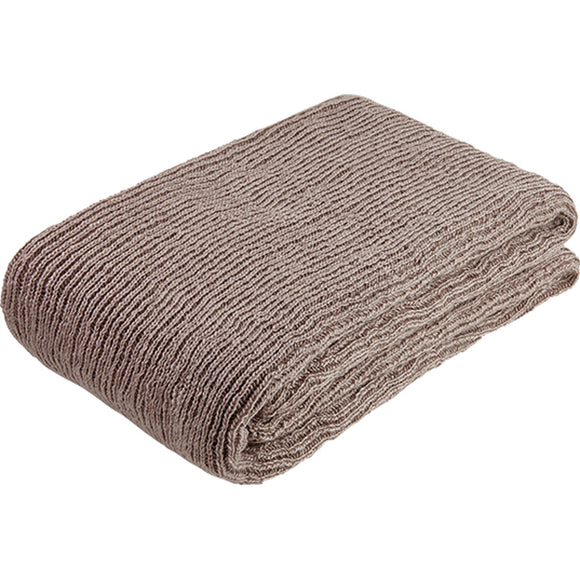 Recycled plastic knitted throw - mauve