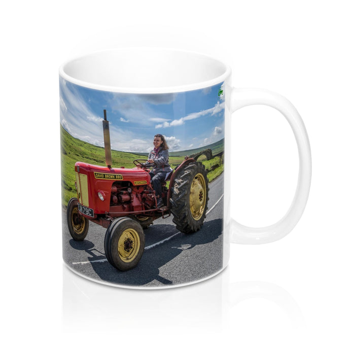 Collectors Printed Tractor Mug 11oz David Brown 880 Tractor Run