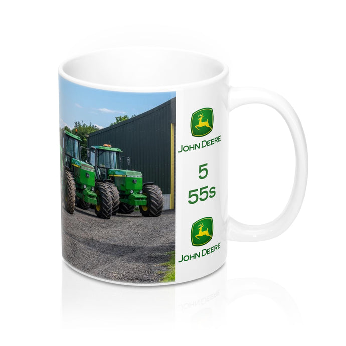 Collectors Printed Tractor Mug 11oz Five John Deere 55s
