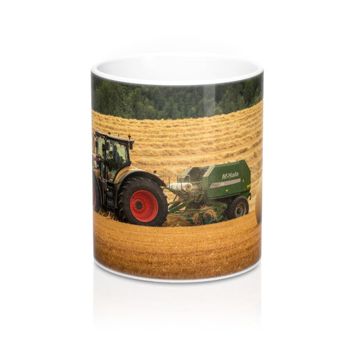 Collectors Printed Tractor Mug 11oz Claas Axion Gold Edition Baling