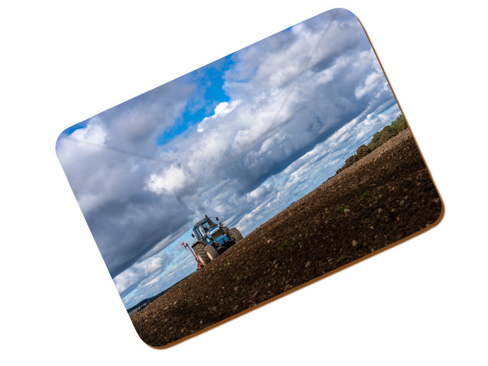 Printed Place Mat With A Ford TW20 Sowing Winter Wheat