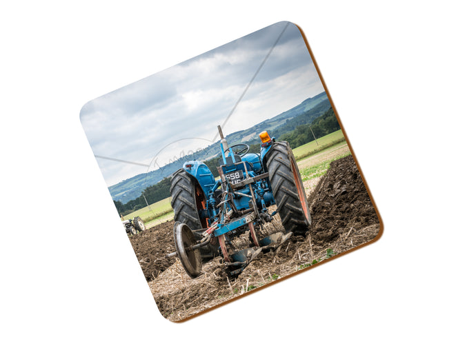 Printed Coaster with a Fordson Major Ploughing