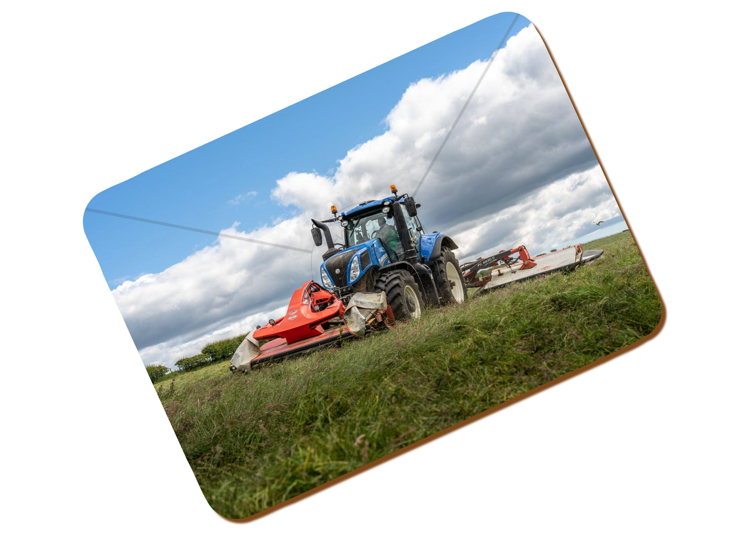 Printed Place Mat With A New Holland T8 Mowing Silage