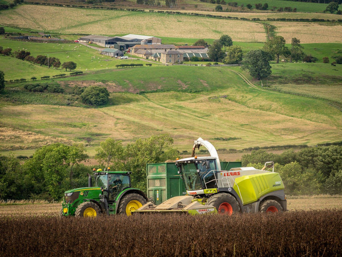 Print of Broadoak Bean Silage Available In Gloss|Sepia|Acrylic