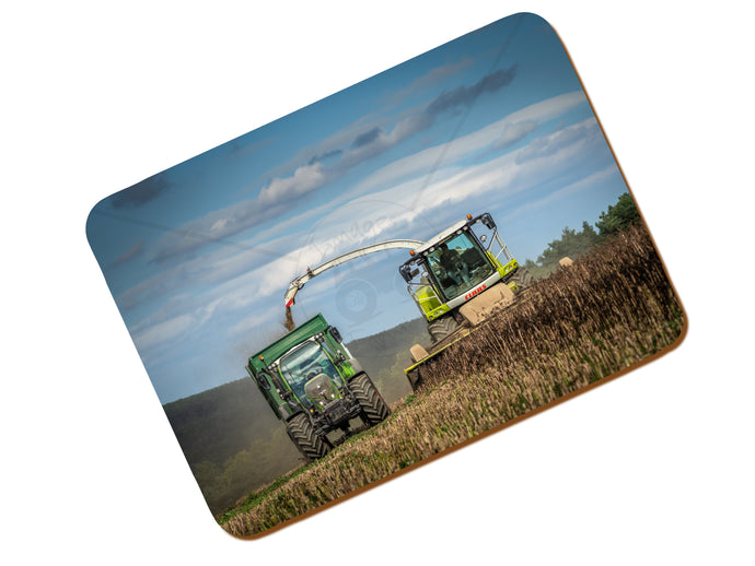 Printed Place Mat With Class And Fendt At Wholecrop Beans