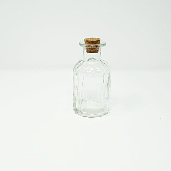 Corked Glass Bottle, Textured