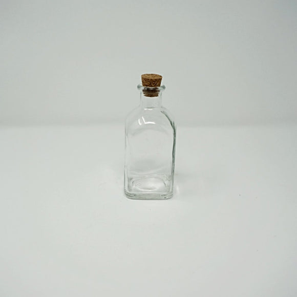 Corked Glass Bottle, Square