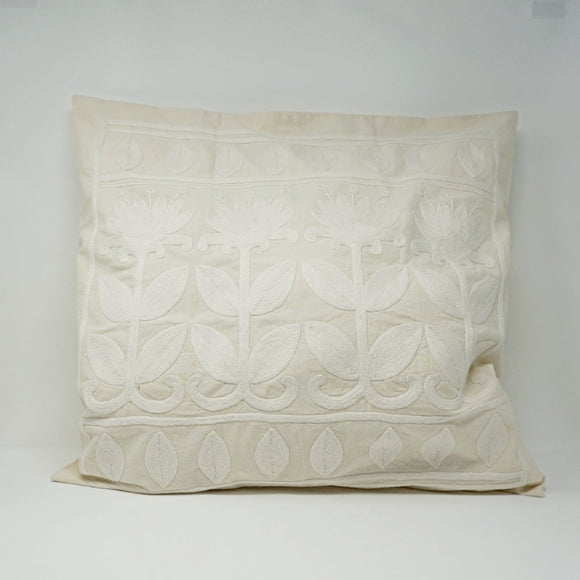 Classic White Bold Floral Pillow Case