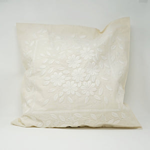 Classic White Embroidered Pillow Case
